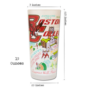 Boston College Collegiate Drinking Glass - catstudio
