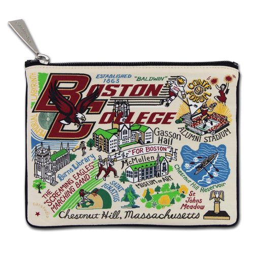 Boston College Collegiate Zip Pouch - catstudio