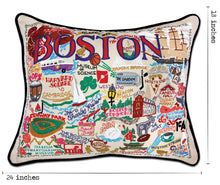 Load image into Gallery viewer, Boston Hand-Embroidered Pillow - catstudio