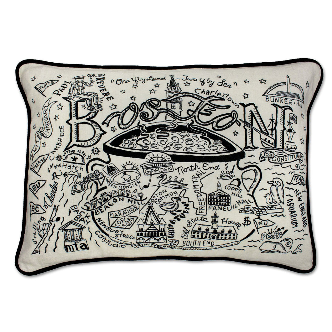Boston Hand-Guided Machine Pillow - catstudio