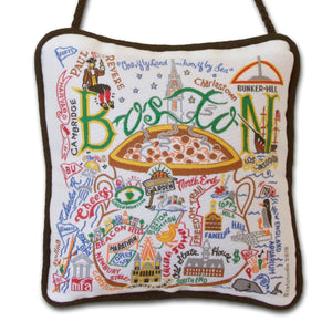 Boston Mini Pillow Ornament - catstudio