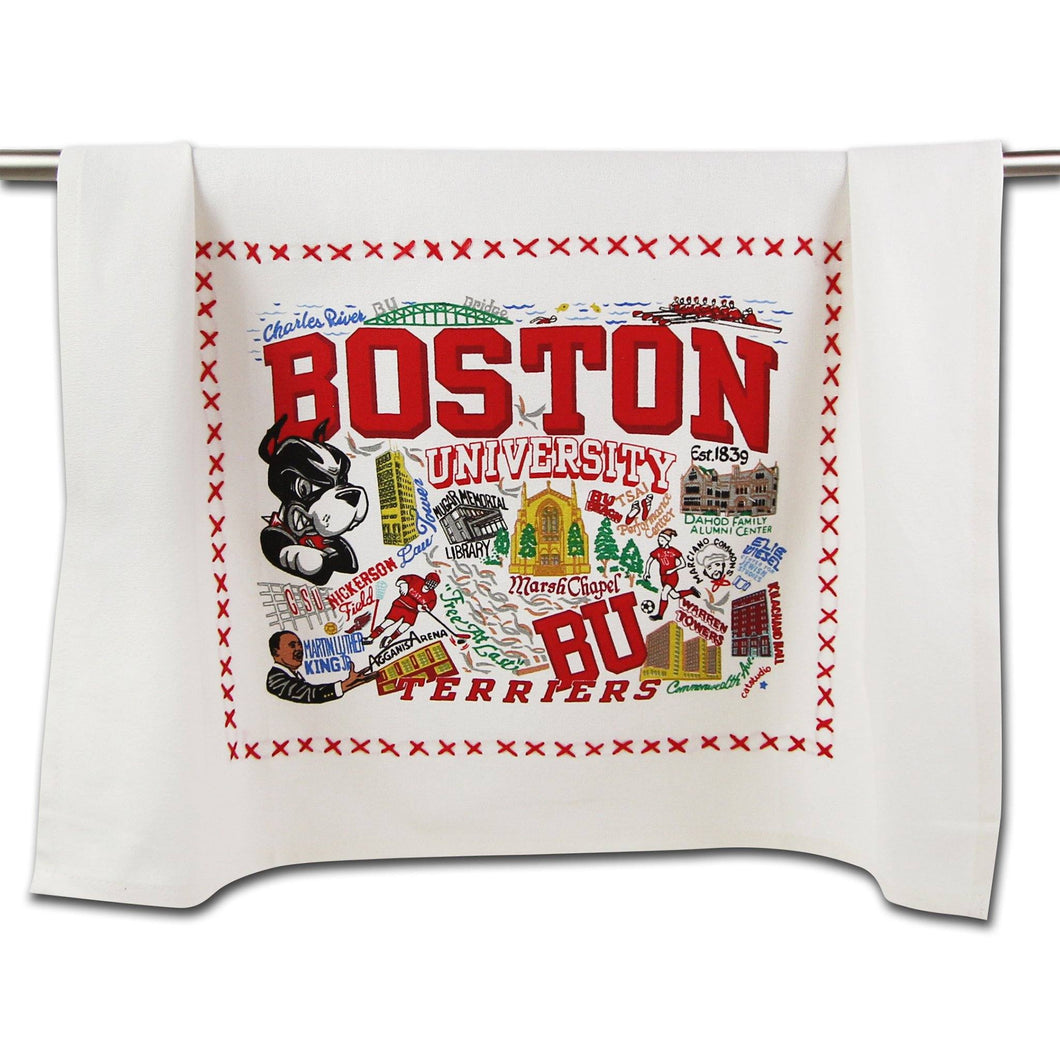 Boston University Collegiate Dish Towel - catstudio