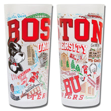 Load image into Gallery viewer, Boston University Collegiate Drinking Glass - catstudio