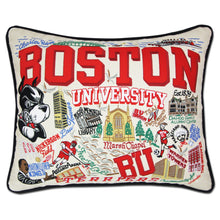 Load image into Gallery viewer, Boston University Collegiate Embroidered Pillow - catstudio