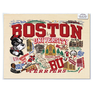 Boston University Collegiate Fine Art Print - catstudio