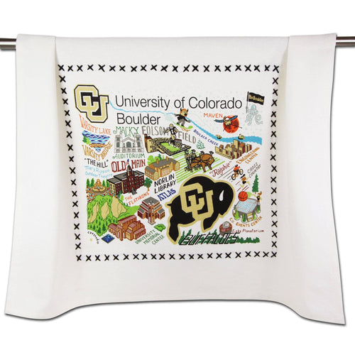 Boulder, University of Colorado Collegiate Dish Towel - catstudio