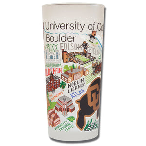 Boulder, University of Colorado Collegiate Drinking Glass - catstudio