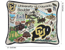 Load image into Gallery viewer, Boulder, University of Colorado Collegiate Embroidered Pillow - catstudio