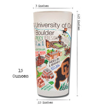 Load image into Gallery viewer, Boulder, University of Colorado Collegiate Drinking Glass - catstudio