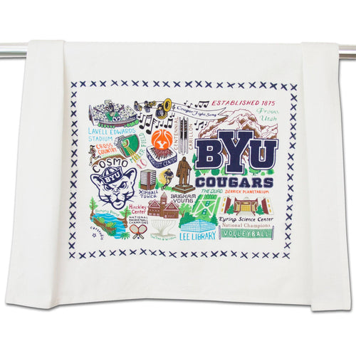 Brigham Young University (BYU) Collegiate Dish Towel - catstudio