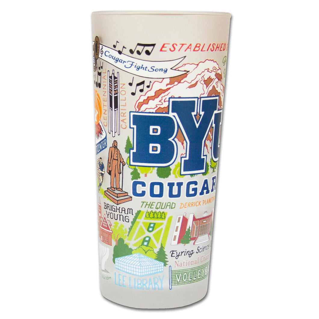 Brigham Young University (BYU) Collegiate Drinking Glass - catstudio