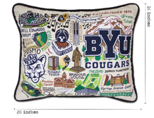 Load image into Gallery viewer, Brigham Young University (BYU) Collegiate Embroidered Pillow - catstudio