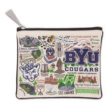 Load image into Gallery viewer, Brigham Young University (BYU) Collegiate Zip Pouch - catstudio