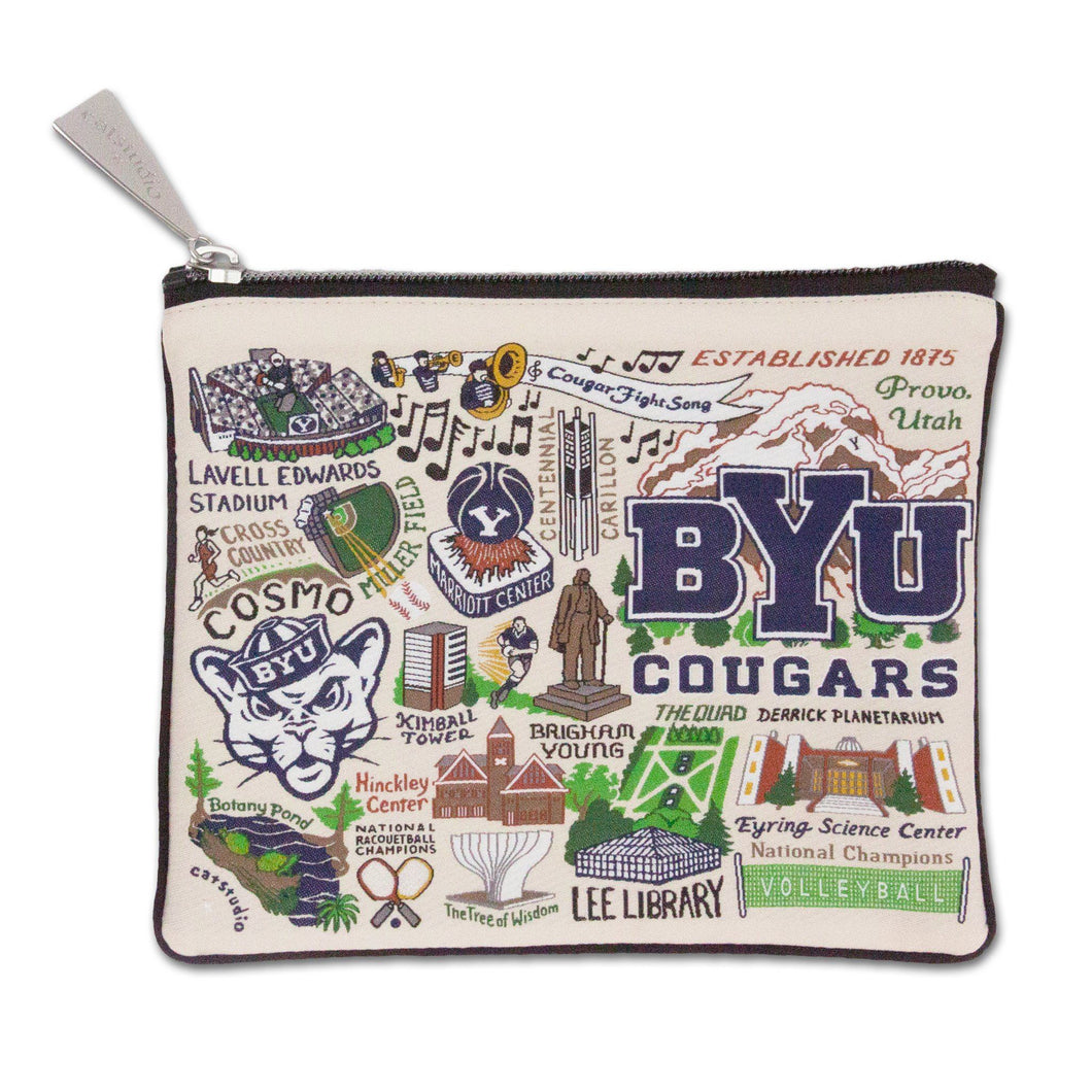 Brigham Young University (BYU) Collegiate Zip Pouch - catstudio