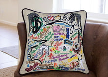 Load image into Gallery viewer, Brooklyn Hand-Embroidered Pillow - catstudio