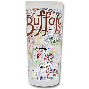 Buffalo Drinking Glass - catstudio