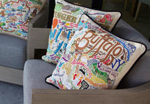 Load image into Gallery viewer, Buffalo Hand-Embroidered Pillow - catstudio