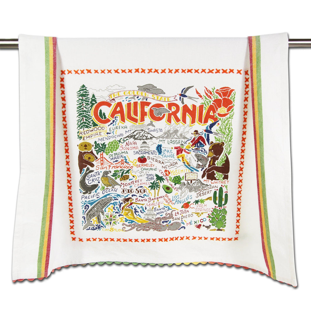 California Dish Towel Dish Towel catstudio