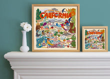 "Load image into Gallery viewer, California Fine Art Print Art Print catstudio 16""x16"" - Framed"