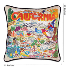 Load image into Gallery viewer, California Hand-Embroidered Pillow Pillow catstudio