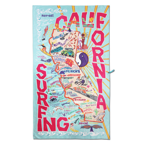 California Surf Beach & Travel Towel Beach & Travel Towels catstudio