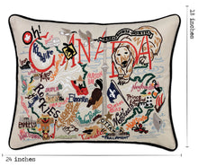 Load image into Gallery viewer, Canada Hand-Embroidered Pillow - catstudio