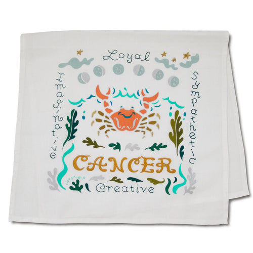Cancer Astrology Dish Towel Dish Towel catstudio