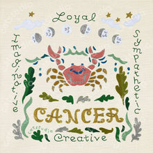 Load image into Gallery viewer, Cancer Astrology Fine Art Print - catstudio