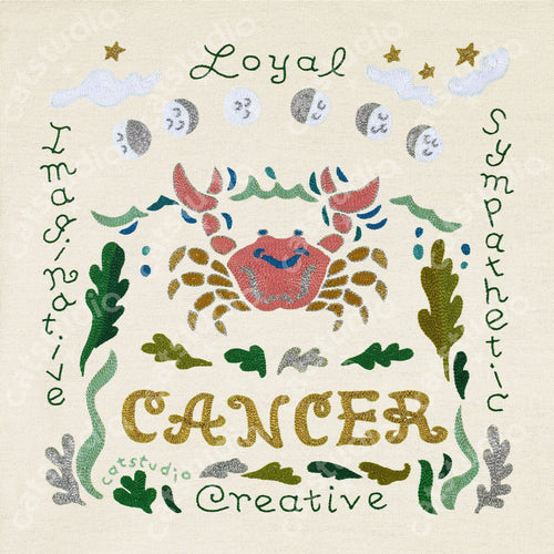 Cancer Astrology Fine Art Print - catstudio