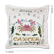 Load image into Gallery viewer, Cancer Astrology Hand-Embroidered Pillow Pillow catstudio
