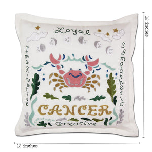 Cancer Astrology Hand-Embroidered Pillow Pillow catstudio