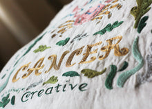 Load image into Gallery viewer, Cancer Astrology Hand-Embroidered Pillow - catstudio
