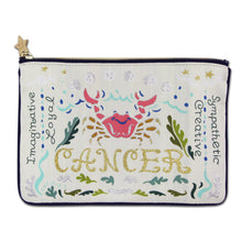 Load image into Gallery viewer, Cancer Astrology Zip Pouch - catstudio
