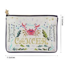 Load image into Gallery viewer, Cancer Astrology Zip Pouch Pouch catstudio