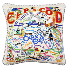Load image into Gallery viewer, Cape Cod Hand-Embroidered Pillow - catstudio