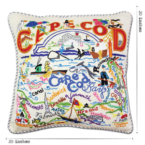 Cape Cod Hand-Embroidered Pillow - catstudio