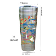 Load image into Gallery viewer, Cape Cod Thermal Tumbler (Set of 4) - PREORDER Thermal Tumbler catstudio