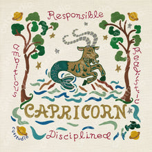 Load image into Gallery viewer, Capricorn Astrology Fine Art Print - catstudio