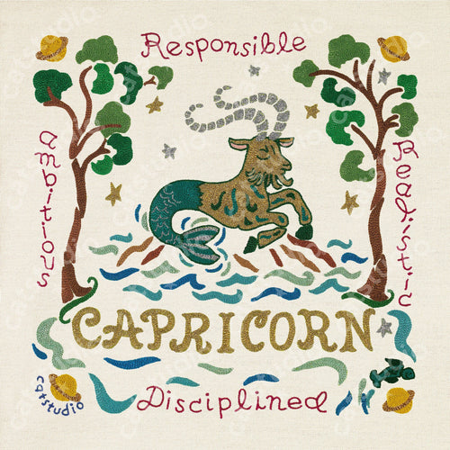 Capricorn Astrology Fine Art Print - catstudio