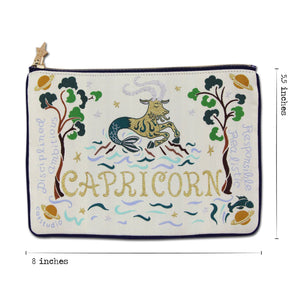 Capricorn Astrology Zip Pouch Pouch catstudio