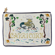 Load image into Gallery viewer, Capricorn Astrology Zip Pouch - catstudio