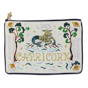Capricorn Astrology Zip Pouch - catstudio
