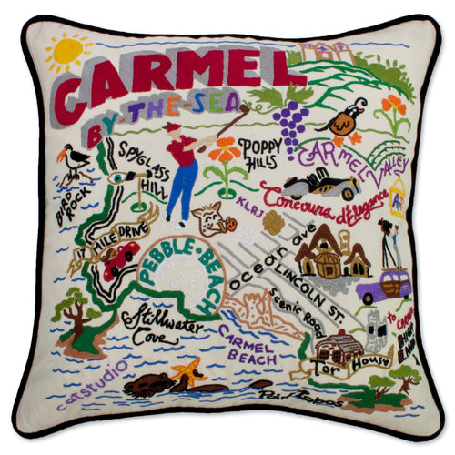 Carmel Hand-Embroidered Pillow - catstudio