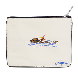 Carmel Zip Pouch - Natural - catstudio