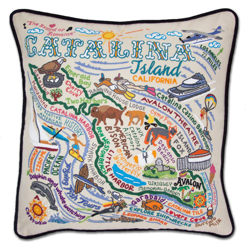 Catalina Hand-Embroidered Pillow - catstudio