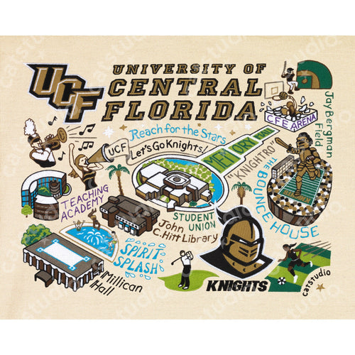 Central Florida, University of Collegiate Fine Art Print - catstudio