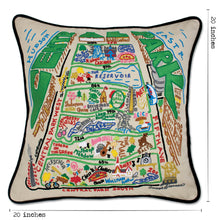 Load image into Gallery viewer, Central Park Hand-Embroidered Pillow - catstudio