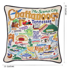 Load image into Gallery viewer, Chattanooga Hand-Embroidered Pillow - catstudio
