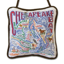 Load image into Gallery viewer, Chesapeake Bay Mini Pillow Ornament - catstudio