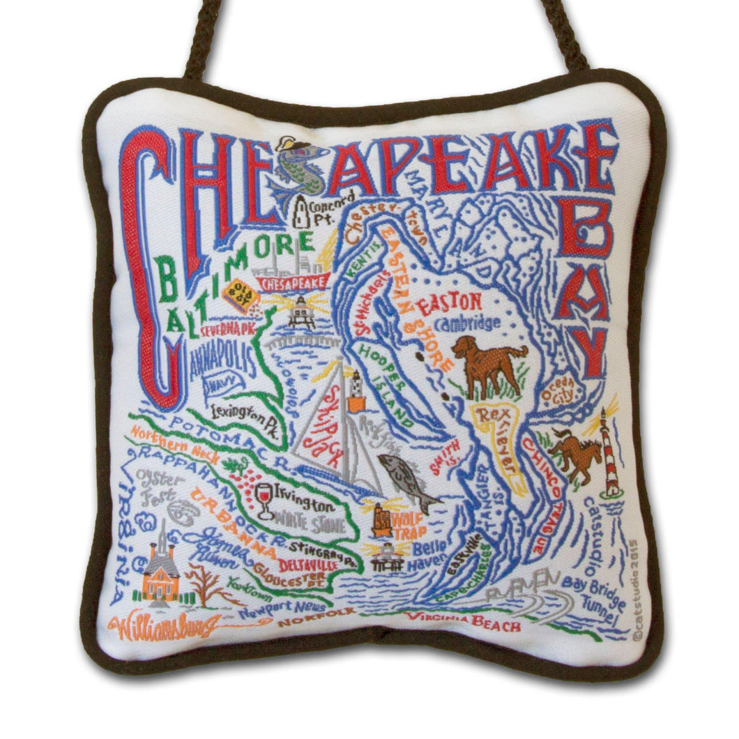 Chesapeake Bay Mini Pillow Ornament - catstudio